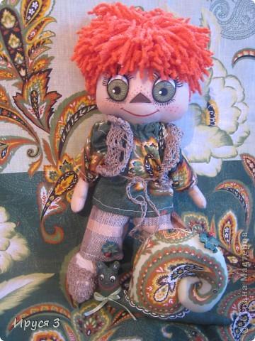 Игрушка, Куклы Шитьё: Домовёнок Егорка и его подружка улитка Маня  Нитки, Ткань. Фото 1