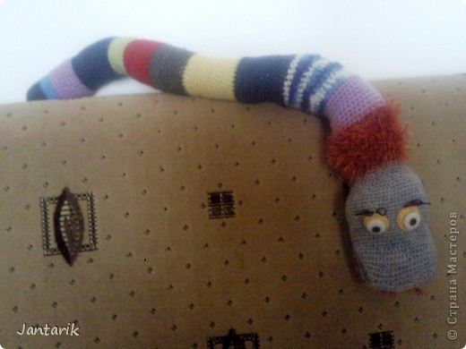 Игрушка Вязание крючком: Змейка Пряжа.  Фото 6.