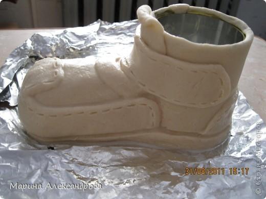 Мастер-класс Лепка: Ботинок...или карандашница?! Тесто соленое. Фото 16