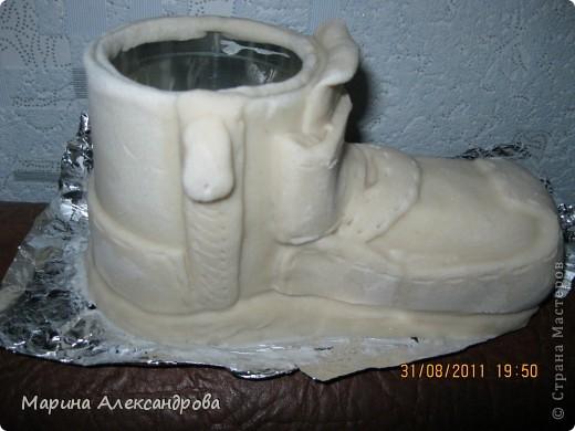 Мастер-класс Лепка: Ботинок...или карандашница?! Тесто соленое. Фото 2