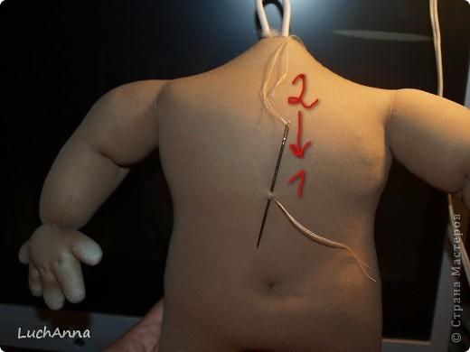 Куклы, Мастер-класс Шитьё: Утяжки на кукольном теле ( МК). Капрон. Фото 22