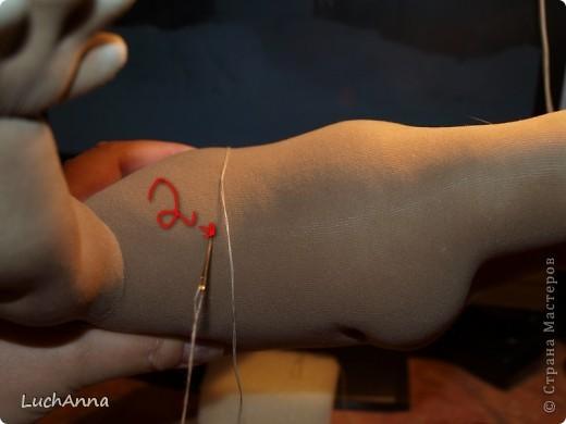 Куклы, Мастер-класс Шитьё:  Утяжки на кукольном теле ( МК). Капрон. Фото 24