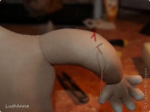 Куклы, Мастер-класс Шитьё: Утяжки на кукольном теле ( МК). Капрон. Фото 2