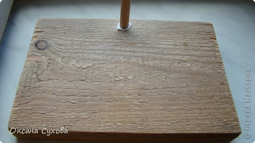 Мастер-класс: МК подставки под текстильную куклу. Бумага, Дерево, Картон, Салфетки. Фото 3