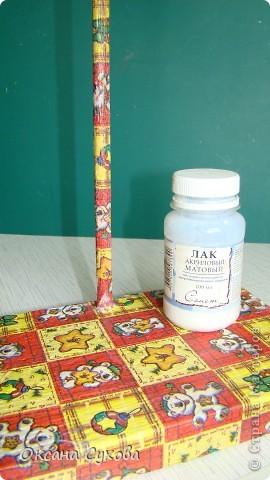 Мастер-класс: МК подставки под текстильную куклу. Бумага, Дерево, Картон, Салфетки. Фото 18