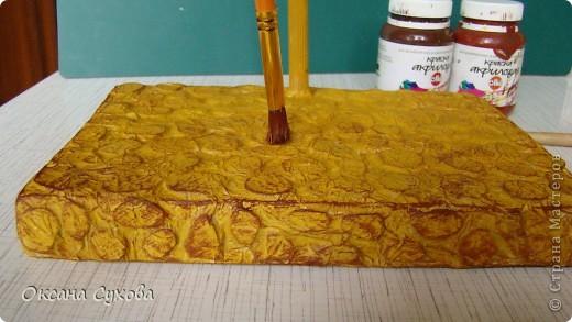 Мастер-класс: МК подставки под текстильную куклу. Бумага, Дерево, Картон, Салфетки. Фото 14
