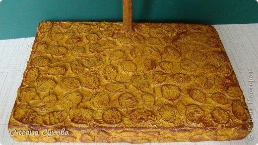 Мастер-класс: МК подставки под текстильную куклу. Бумага, Дерево, Картон, Салфетки. Фото 15