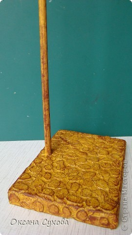 Мастер-класс: МК подставки под текстильную куклу. Бумага, Дерево, Картон, Салфетки. Фото 16