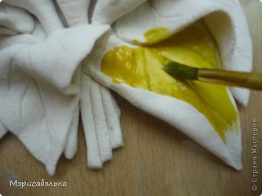 Мастер-класс Лепка: Каллы. Тесто соленое День рождения. Фото 32