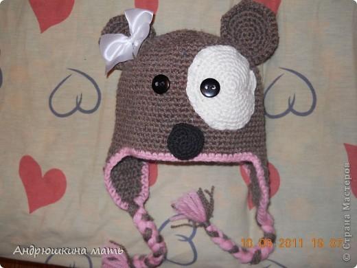 Гардероб Вязание крючком: Детская шапка с ушками.  Фото 1.