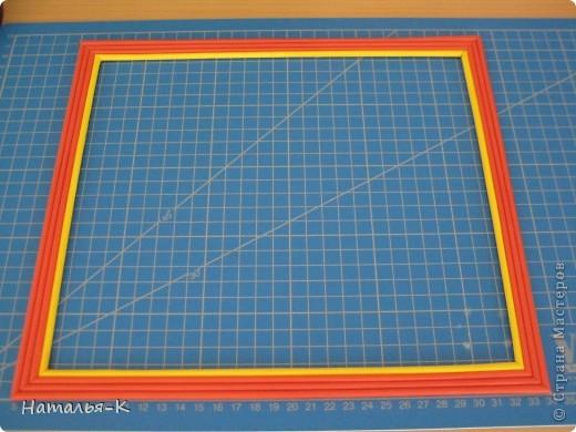 Мастер-класс: Рамочка из бумажных трубочек. Бумажные полосы. Фото 1