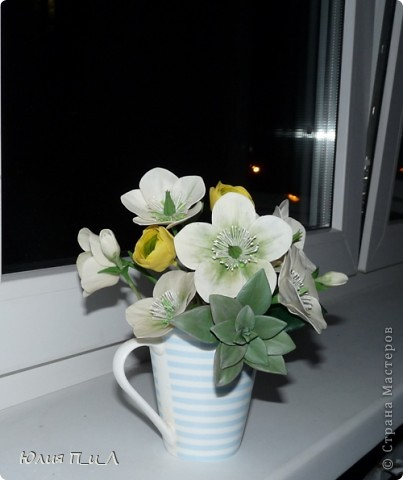 Мастер-класс, Поделка, изделие Лепка: Морозники (МК) ХФ Фарфор холодный День рождения. Фото 15