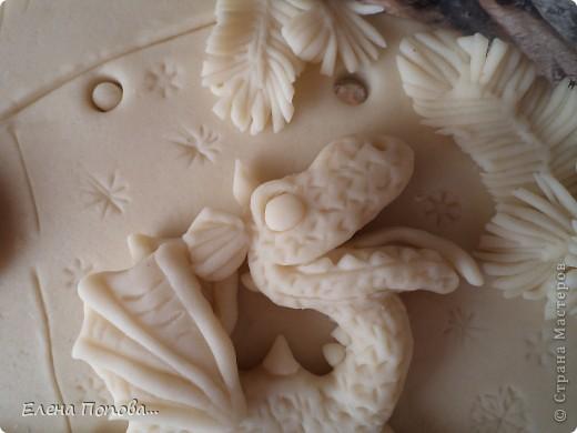 Картина, панно, Мастер-класс, Поделка, изделие Лепка: Дракоша новогодний. Рыбка-мультяшка. МАСТЕР-КЛАСС Тесто соленое Новый год. Фото 43
