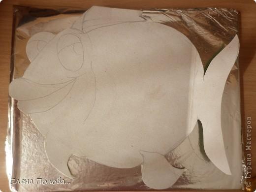 Картина, панно, Мастер-класс, Поделка, изделие Лепка: Дракоша новогодний. Рыбка-мультяшка. МАСТЕР-КЛАСС Тесто соленое Новый год. Фото 2
