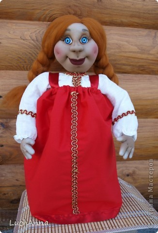 Куклы Шитьё: Марфушенька-душенька (кукла-грелка) Капрон. Фото 9