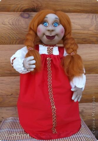 Куклы Шитьё: Марфушенька-душенька (кукла-грелка) Капрон. Фото 11