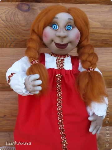 Куклы Шитьё: Марфушенька-душенька (кукла-грелка) Капрон. Фото 12
