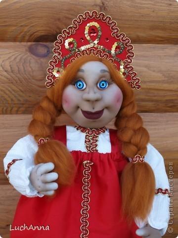 Куклы Шитьё: Марфушенька-душенька (кукла-грелка) Капрон. Фото 14