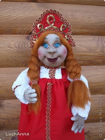 Куклы Шитьё: Марфушенька-душенька (кукла-грелка) Капрон. Фото 19