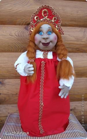 Куклы Шитьё: Марфушенька-душенька (кукла-грелка) Капрон. Фото 13