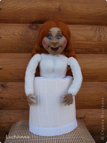 Куклы Шитьё: Марфушенька-душенька (кукла-грелка) Капрон. Фото 6