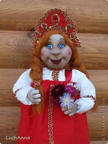 Куклы Шитьё: Марфушенька-душенька (кукла-грелка) Капрон. Фото 21