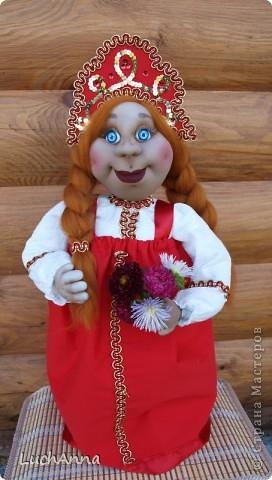 Куклы Шитьё: Марфушенька-душенька (кукла-грелка) Капрон. Фото 1