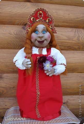 Куклы Шитьё: Марфушенька-душенька (кукла-грелка) Капрон. Фото 15