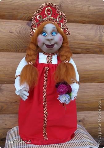 Куклы Шитьё: Марфушенька-душенька (кукла-грелка) Капрон. Фото 18