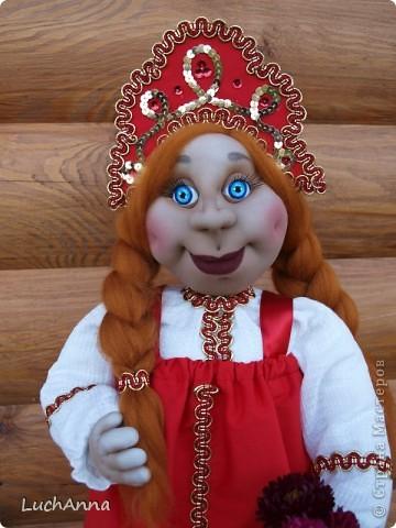 Куклы Шитьё: Марфушенька-душенька (кукла-грелка) Капрон. Фото 20