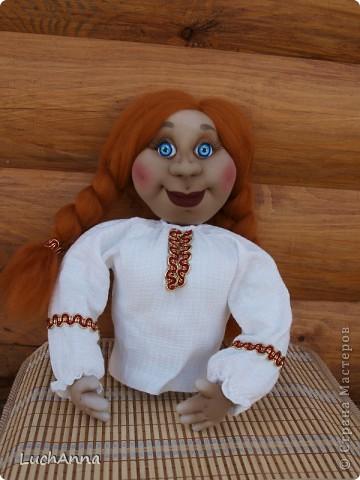 Куклы Шитьё: Марфушенька-душенька (кукла-грелка) Капрон. Фото 7
