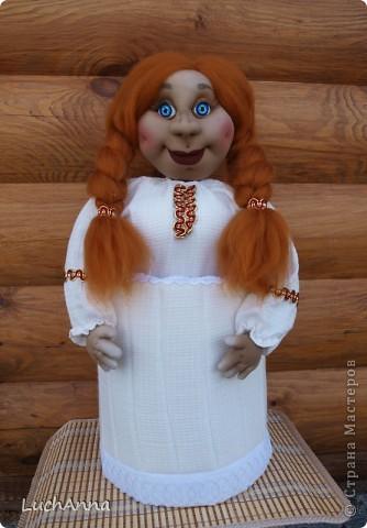 Куклы Шитьё: Марфушенька-душенька (кукла-грелка) Капрон. Фото 8