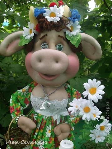 Куклы Шитьё: Буренка, мастер-класс Капрон. Фото 1