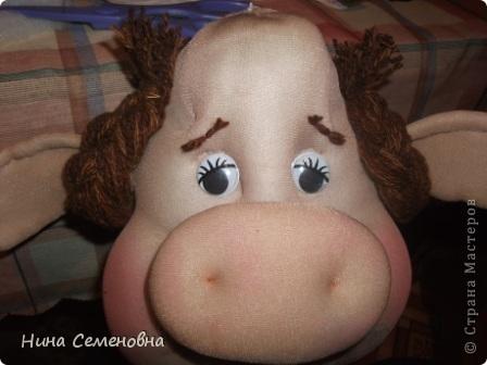 Куклы Шитьё: Буренка, мастер-класс Капрон. Фото 45
