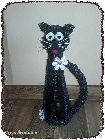 Мастер-класс, Поделка, изделие Плетение: котик Бумага журнальная День рождения. Фото 1