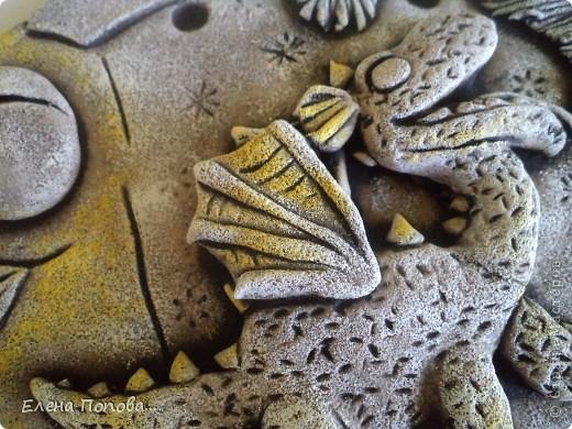 Мастер-класс Лепка, Роспись: Дракоша новогодний. МК покраска. Гуашь, Тесто соленое Новый год. Фото 13