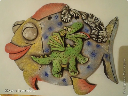 Мастер-класс Лепка, Роспись: Дракоша новогодний. МК покраска. Гуашь, Тесто соленое Новый год. Фото 21