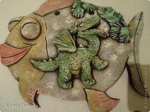 Мастер-класс Лепка, Роспись: Дракоша новогодний. МК покраска. Гуашь, Тесто соленое Новый год. Фото 24