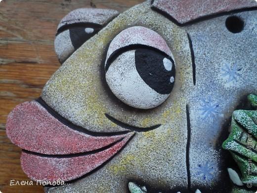 Мастер-класс Лепка, Роспись: Дракоша новогодний. МК покраска. Гуашь, Тесто соленое Новый год. Фото 31