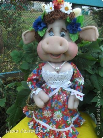Куклы Шитьё: Буренка Мастер-класс2 Капрон. Фото 19
