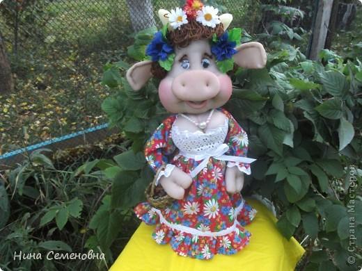 Куклы Шитьё: Буренка Мастер-класс2 Капрон. Фото 1
