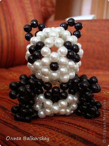 схема панда из бисера