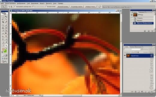 Иногда очень хочется вышить что-то такое-эдакое, например автопортрет. В интернете есть много программ для создания схем, но можно создать схему и при помощи фотошопа. Главное и самое сложное потом подобрать нитки. Не знаю пригодиться ли кому МК. Буду надеяться что пригодиться... ИТАК.... Откройте картинку или фотографию в графическом редакторе. Фото 4