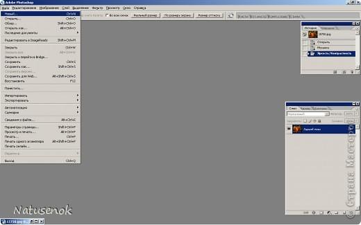 Иногда очень хочется вышить что-то такое-эдакое, например автопортрет. В интернете есть много программ для создания схем, но можно создать схему и при помощи фотошопа. Главное и самое сложное потом подобрать нитки. Не знаю пригодиться ли кому МК. Буду надеяться что пригодиться... ИТАК.... Откройте картинку или фотографию в графическом редакторе. Фото 5