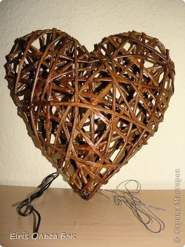 Это мой усовершенствованный  и уже немного систематизированный вариант плетенного сердца.. Фото 5