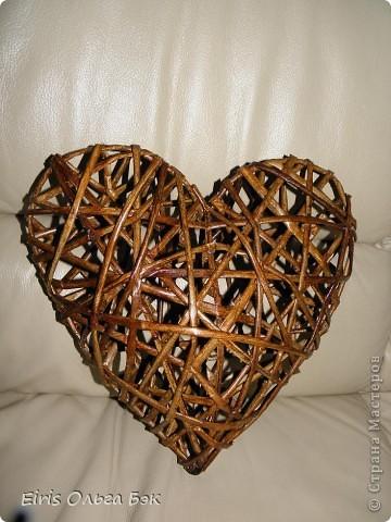 Это мой усовершенствованный  и уже немного систематизированный вариант плетенного сердца.. Фото 6