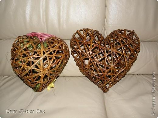 Это мой усовершенствованный  и уже немного систематизированный вариант плетенного сердца.. Фото 3