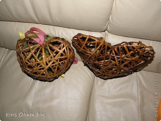 Это мой усовершенствованный  и уже немного систематизированный вариант плетенного сердца.. Фото 4