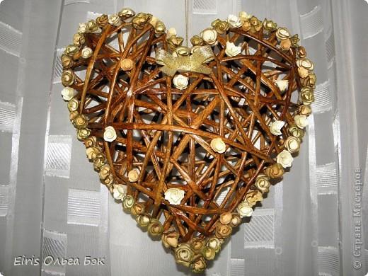 Это мой усовершенствованный  и уже немного систематизированный вариант плетенного сердца.. Фото 17
