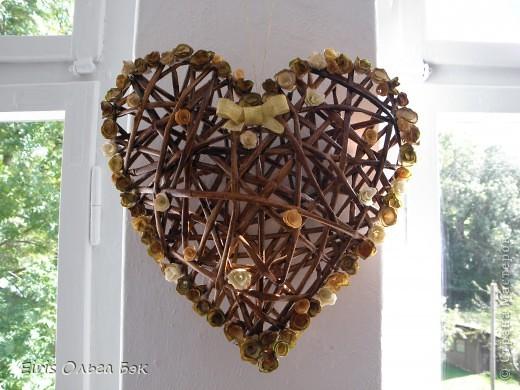 Это мой усовершенствованный  и уже немного систематизированный вариант плетенного сердца.. Фото 18